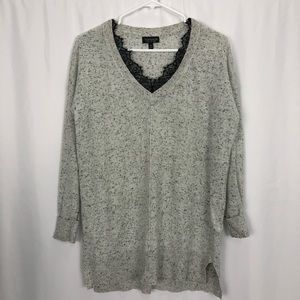 TOPSHOP lace collared sweater